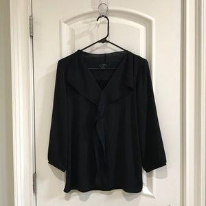 LOFT blouse with knit back
